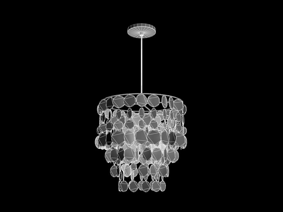 Chandelier royalty-free 3d model - Preview no. 2