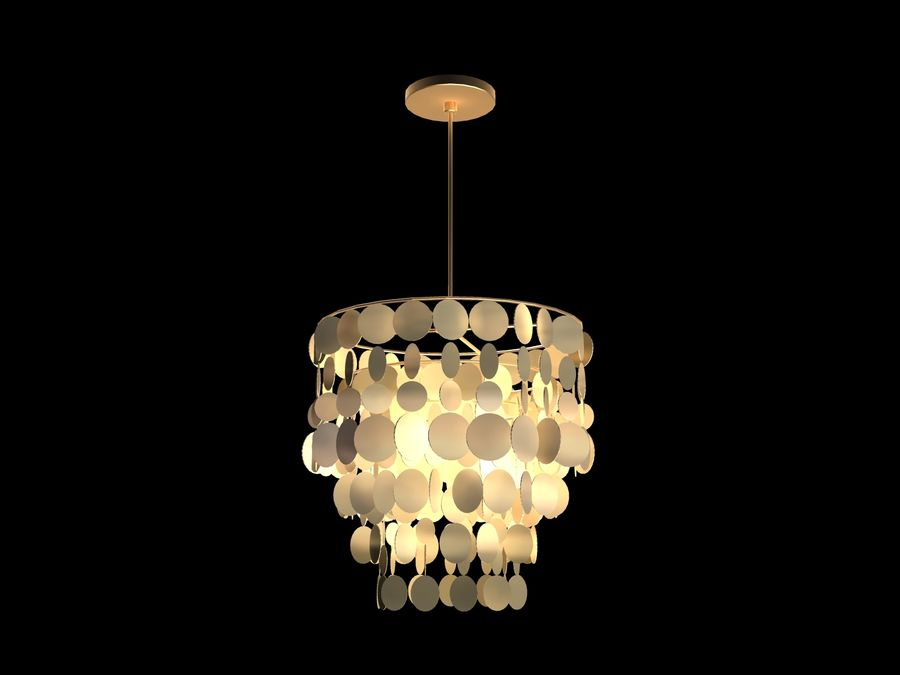 Chandelier royalty-free 3d model - Preview no. 1