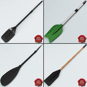 Boat Paddles Collection 3d model