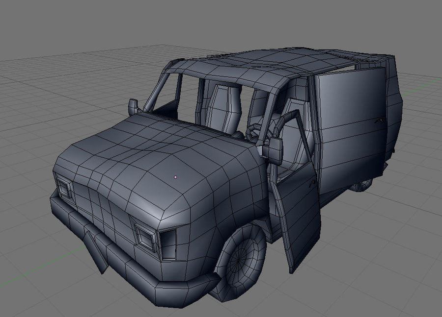 wrecked van 01 royalty-free 3d model - Preview no. 7