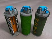 手榴弹开放横截面 3d model
