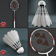 Kolekcja badmintona V1 3d model