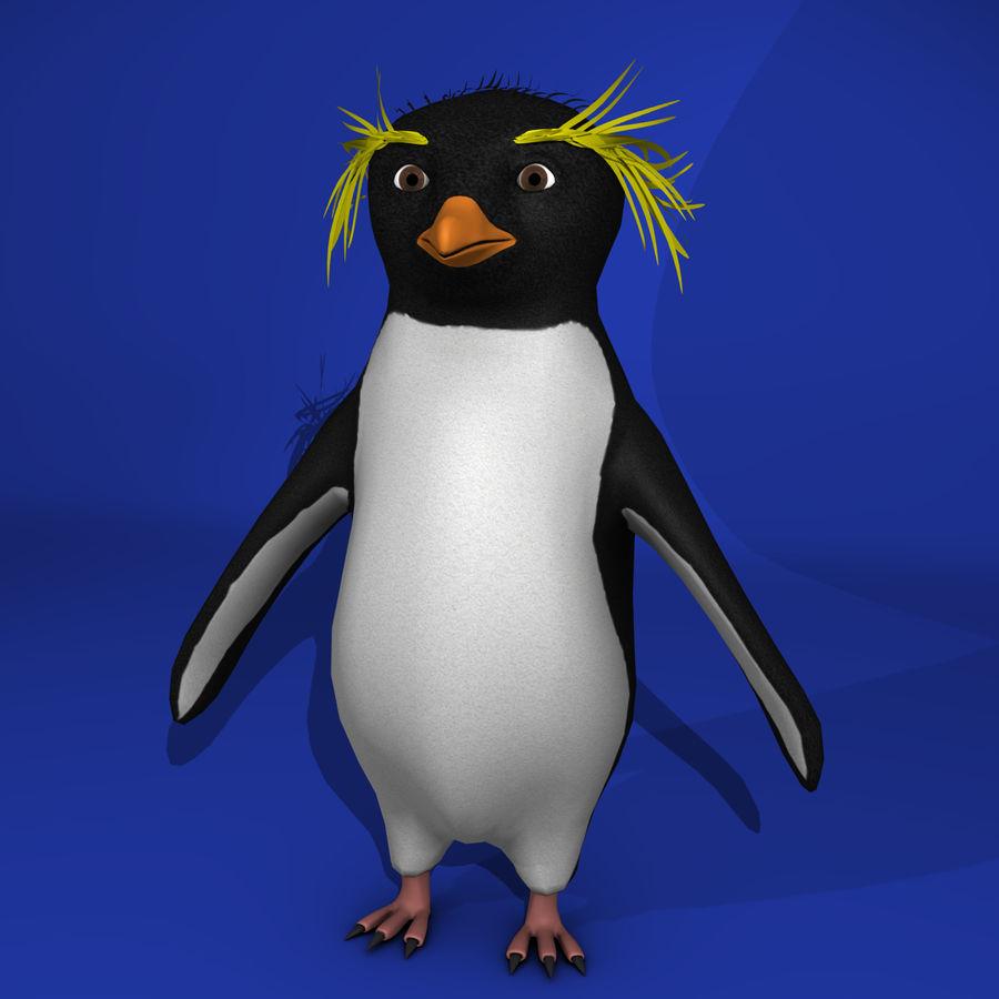 Rockhopper企鹅 royalty-free 3d model - Preview no. 1