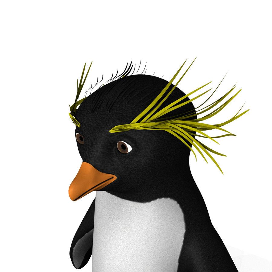 Rockhopper企鹅 royalty-free 3d model - Preview no. 4