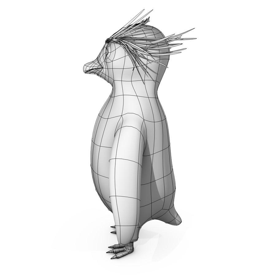 Rockhopper企鹅 royalty-free 3d model - Preview no. 12