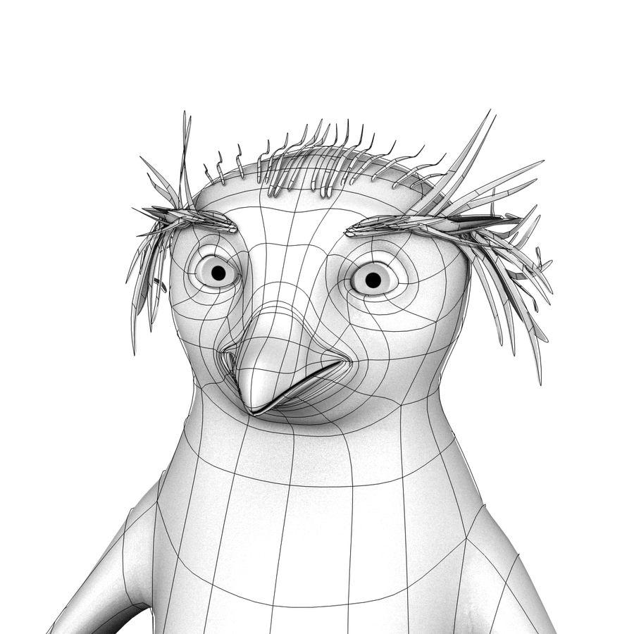 Rockhopper企鹅 royalty-free 3d model - Preview no. 10