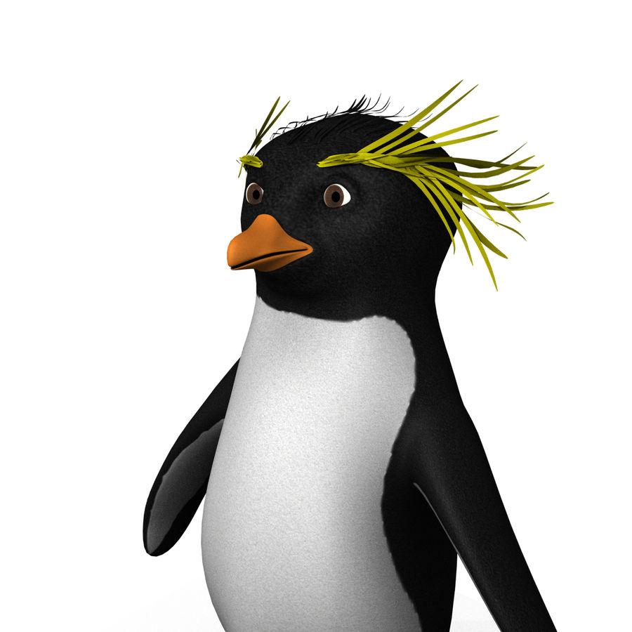 Rockhopper企鹅 royalty-free 3d model - Preview no. 3