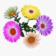 Flowers Cartoon - A 3d model