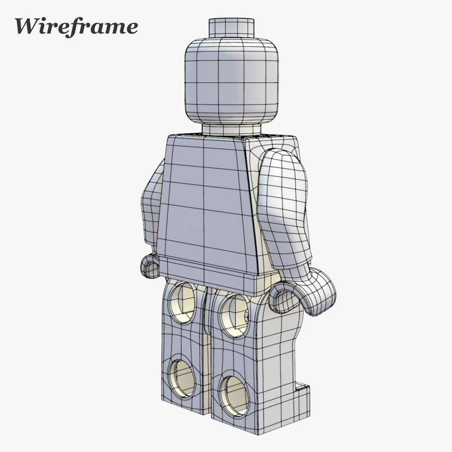 LEGO Minifigure royalty-free 3d model - Preview no. 15