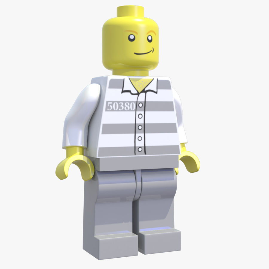 LEGO Minifigure royalty-free 3d model - Preview no. 2