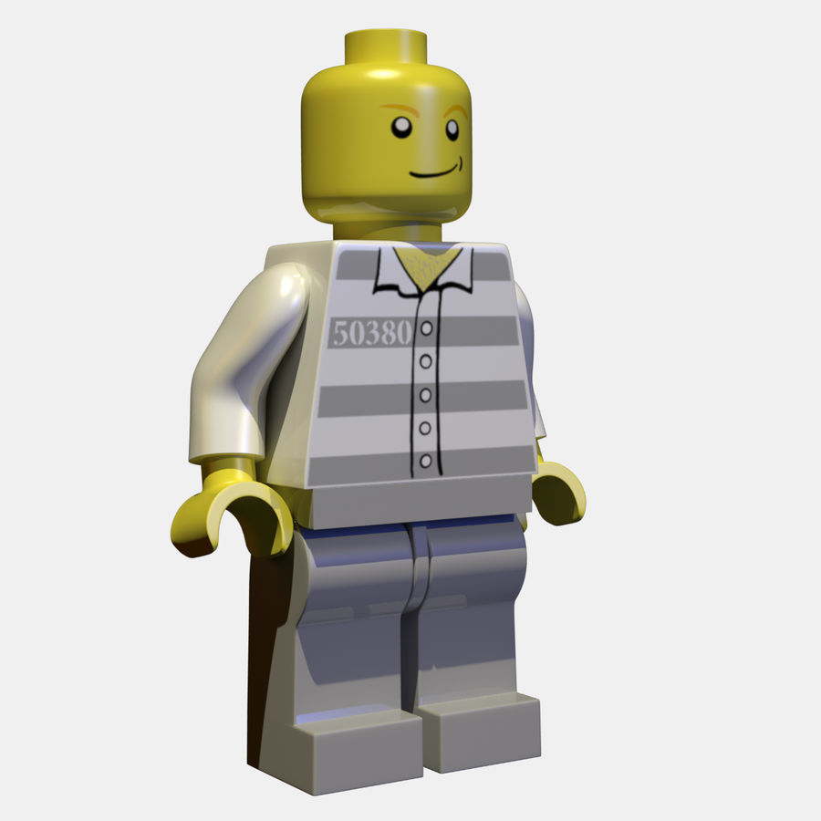LEGO Minifigure royalty-free 3d model - Preview no. 6
