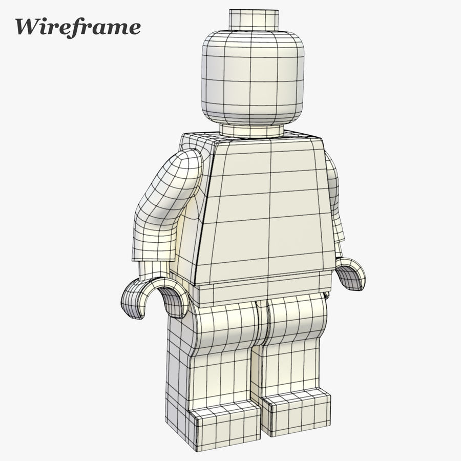 LEGO Minifigure royalty-free 3d model - Preview no. 14