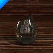 szklany wazon 01 3d model