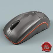 Souris d'ordinateur basse poly 3d model