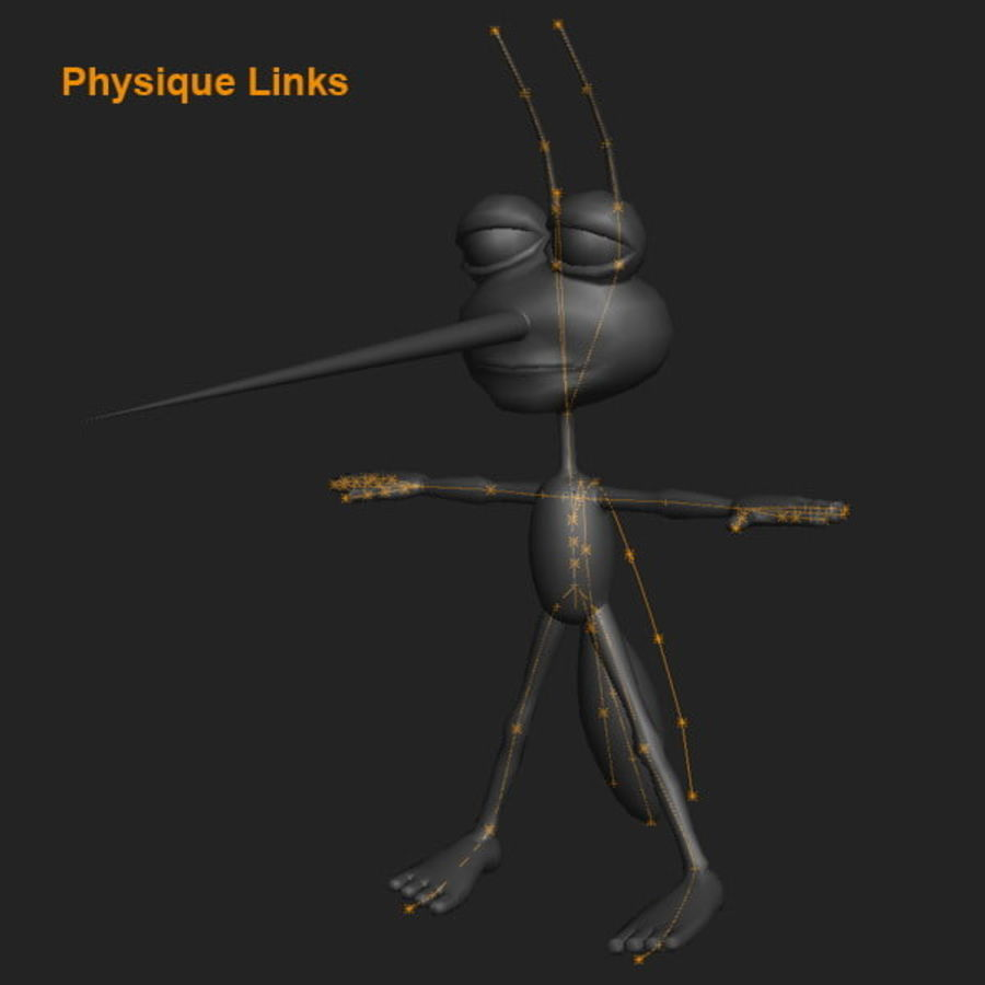 Mosquito Cartoon 01 royalty-free 3d model - Preview no. 13