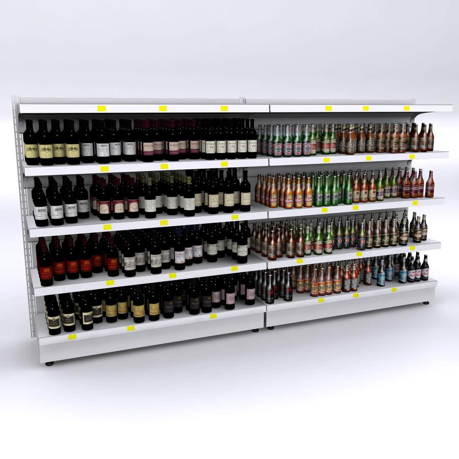 Scaffali per vino e birra royalty-free 3d model - Preview no. 1
