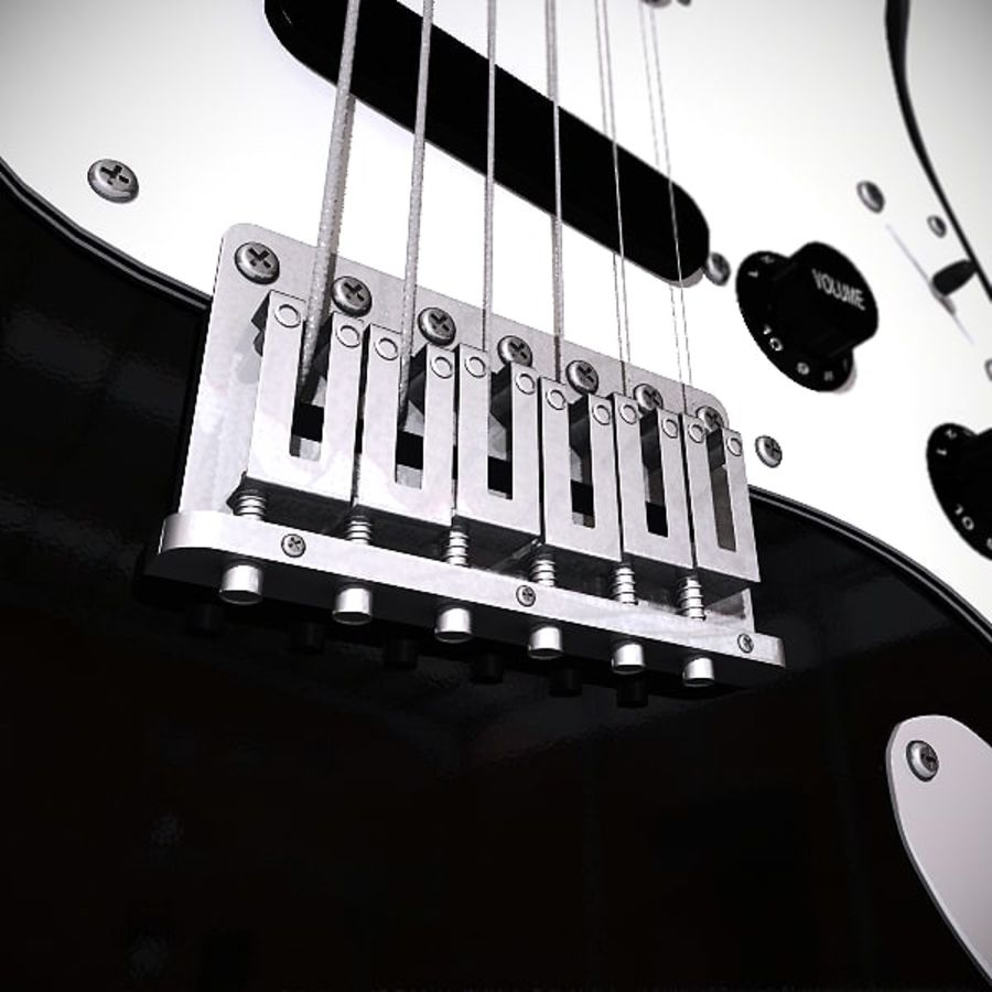 Elektrische gitaar royalty-free 3d model - Preview no. 2