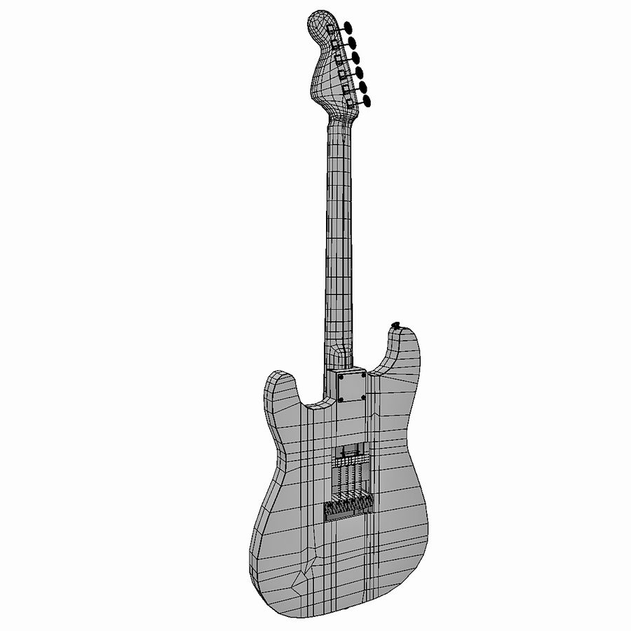 Guitarra elétrica royalty-free 3d model - Preview no. 10