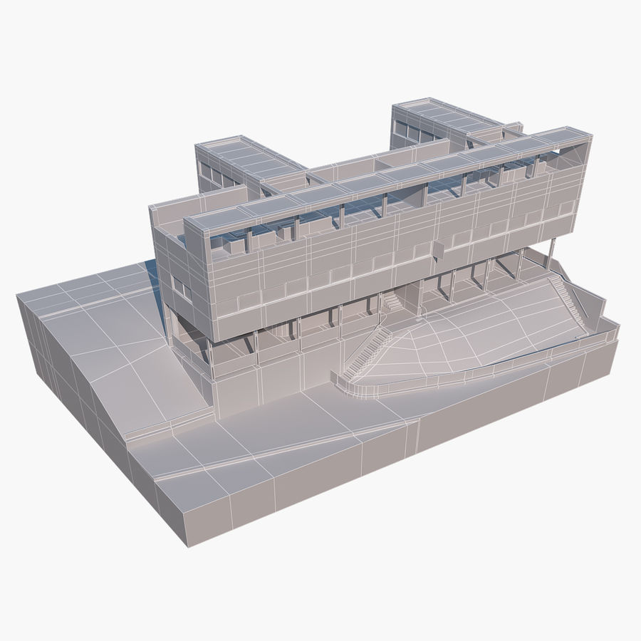 BOUWEN moderne architectuur royalty-free 3d model - Preview no. 12
