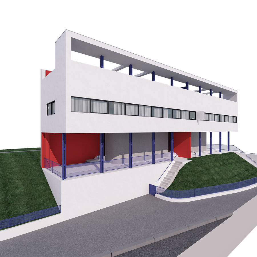 BOUWEN moderne architectuur royalty-free 3d model - Preview no. 1