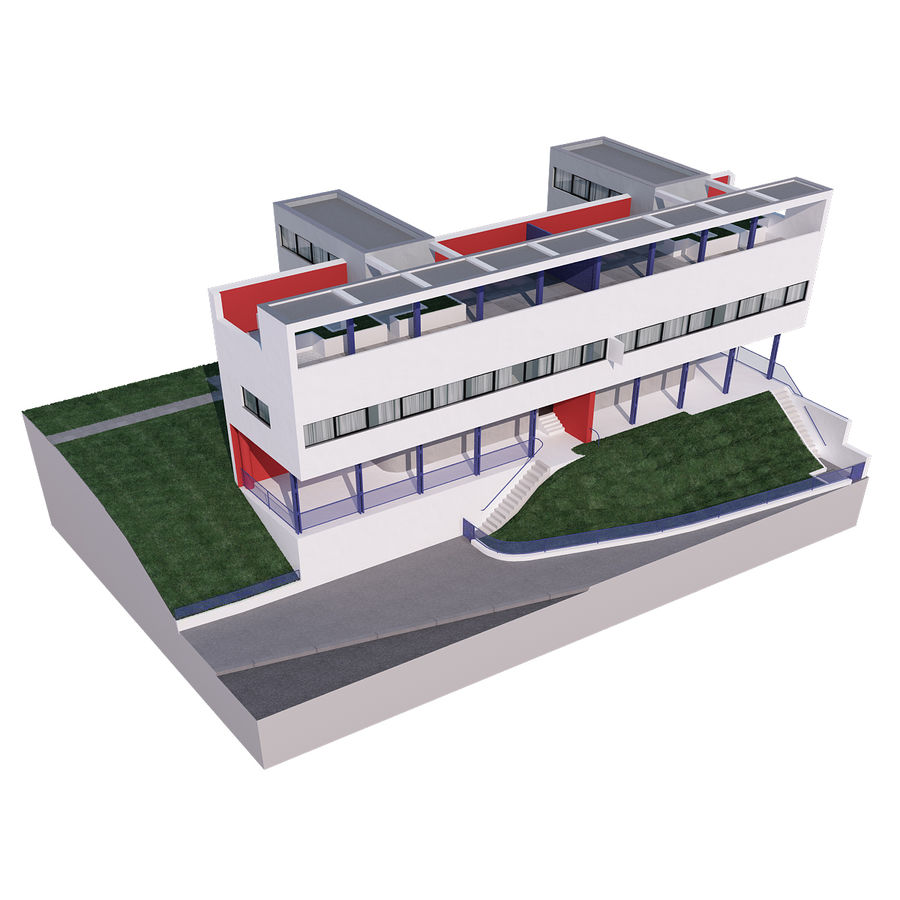 BYGGA modern arkitektur royalty-free 3d model - Preview no. 11