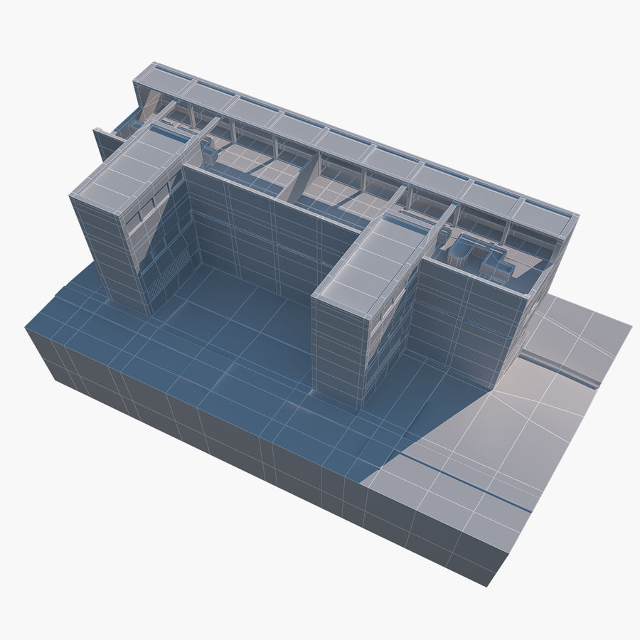 BUILDING modern architecture royalty-free 3d model - Preview no. 8
