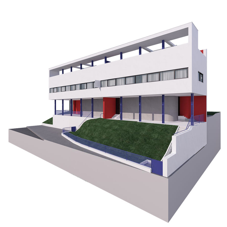 BOUWEN moderne architectuur royalty-free 3d model - Preview no. 5