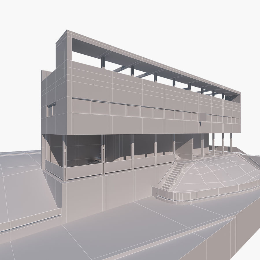 BUILDING modern architecture royalty-free 3d model - Preview no. 2