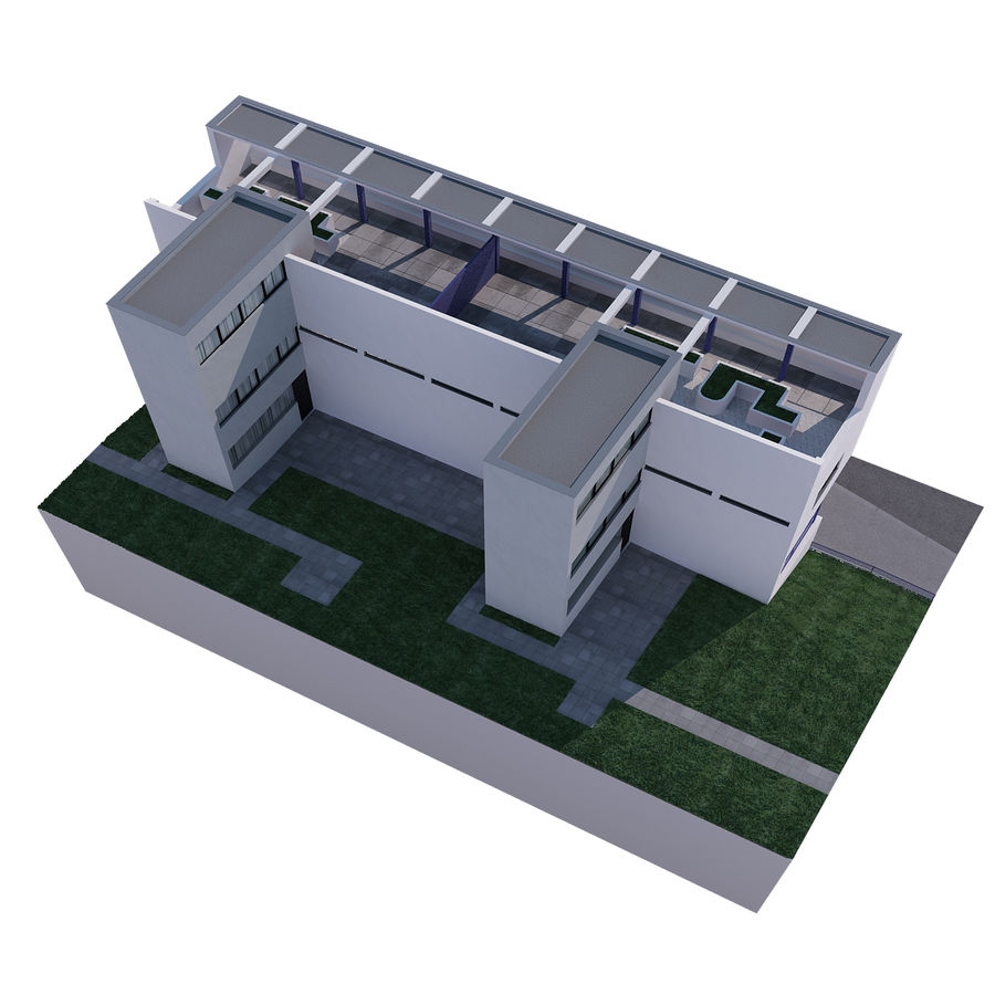 BUILDING modern architecture royalty-free 3d model - Preview no. 7