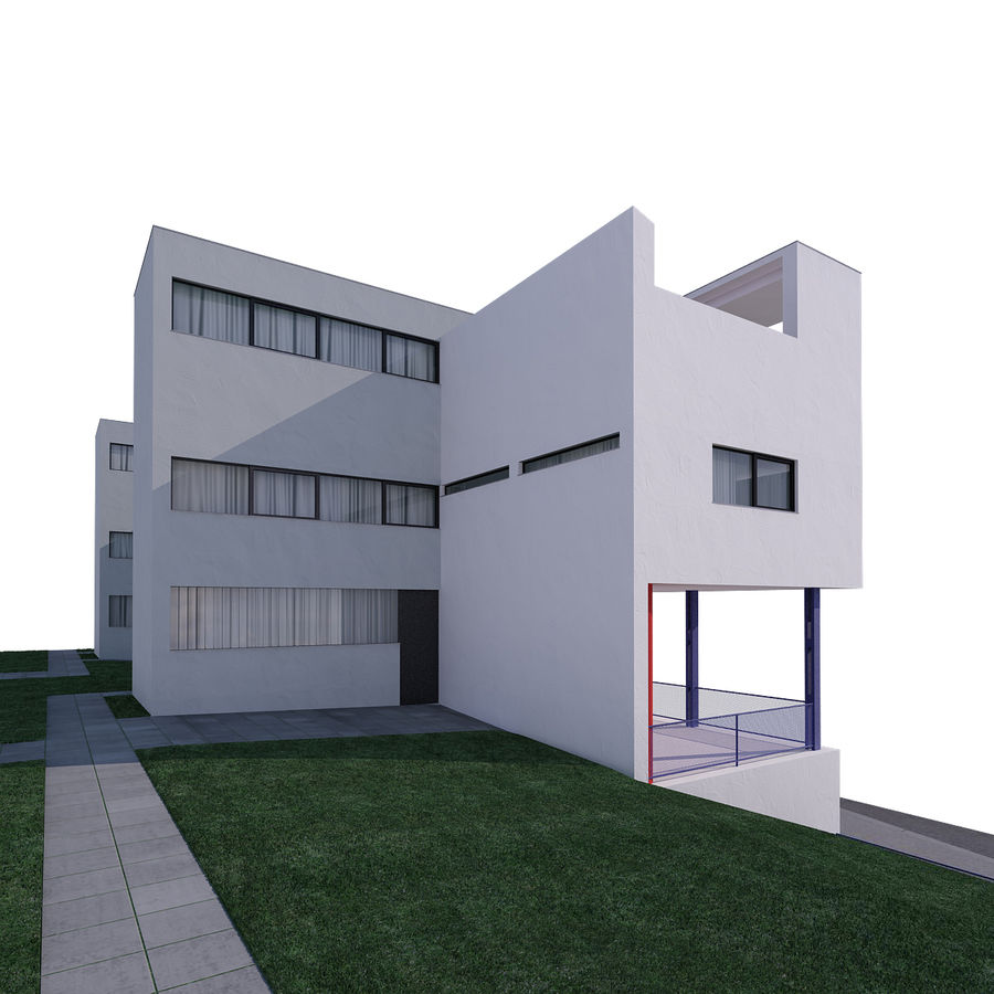 BUILDING modern architecture royalty-free 3d model - Preview no. 3