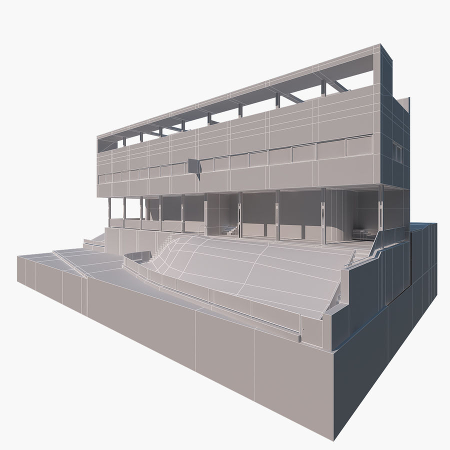 BYGGA modern arkitektur royalty-free 3d model - Preview no. 6