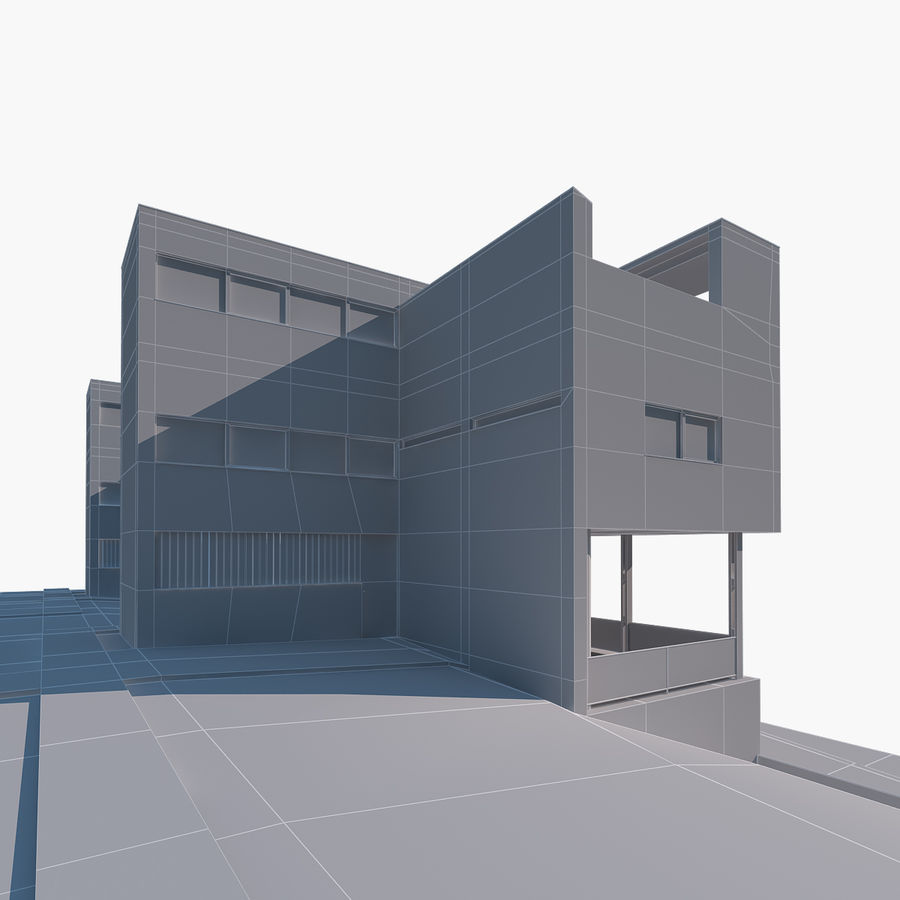 BOUWEN moderne architectuur royalty-free 3d model - Preview no. 4