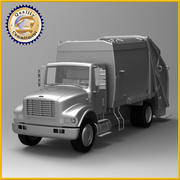 Camion benne à ordures 3d model
