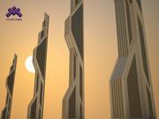 Futuristic Sci-Fi Skyscraper 3d model