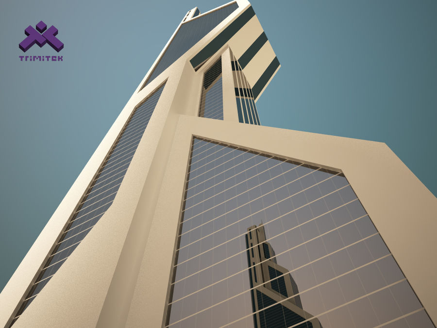 Futuristic Sci-Fi Skyscraper royalty-free 3d model - Preview no. 7