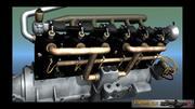 Mercedes D inline 6 WW1 engine 3d model
