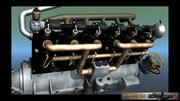 Mercedes D inline 6 WW1 engine 3d model