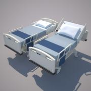 Hospital Bed, Table, & IV 3d model