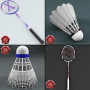 Kolekcja badmintona V3 3d model