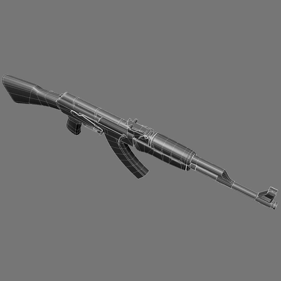 АК 47 royalty-free 3d model - Preview no. 13