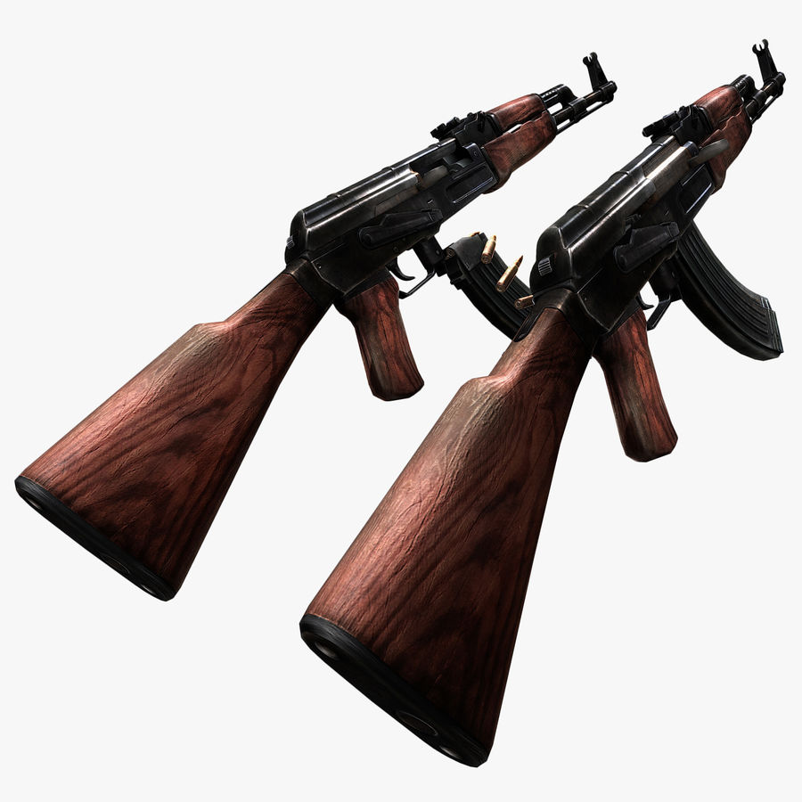 AK47 royalty-free 3d model - Preview no. 6