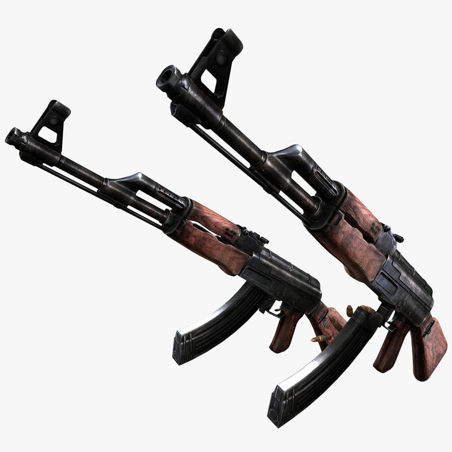 AK 47 royalty-free 3d model - Preview no. 10
