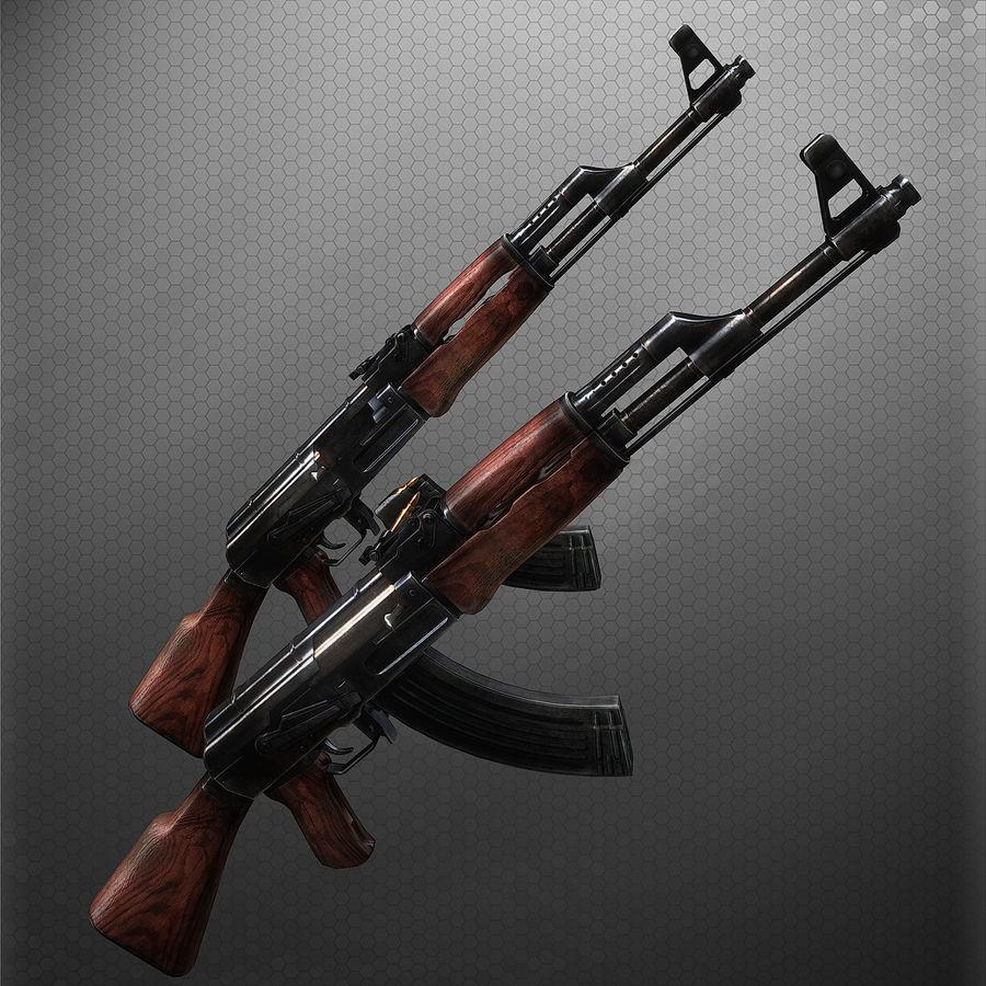 AK47 royalty-free 3d model - Preview no. 1