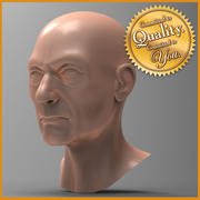 Old Human Male Head 3d model