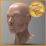 Cabeza de hombre humano viejo modelo 3d
