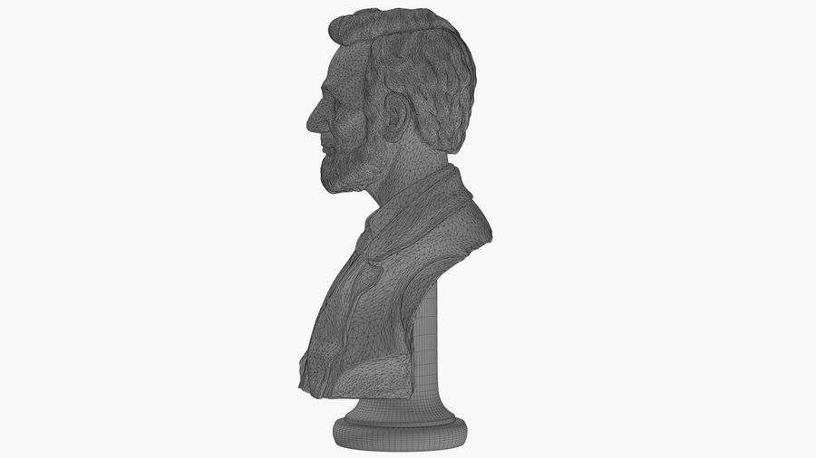 Abraham Lincoln Bust royalty-free 3d model - Preview no. 9