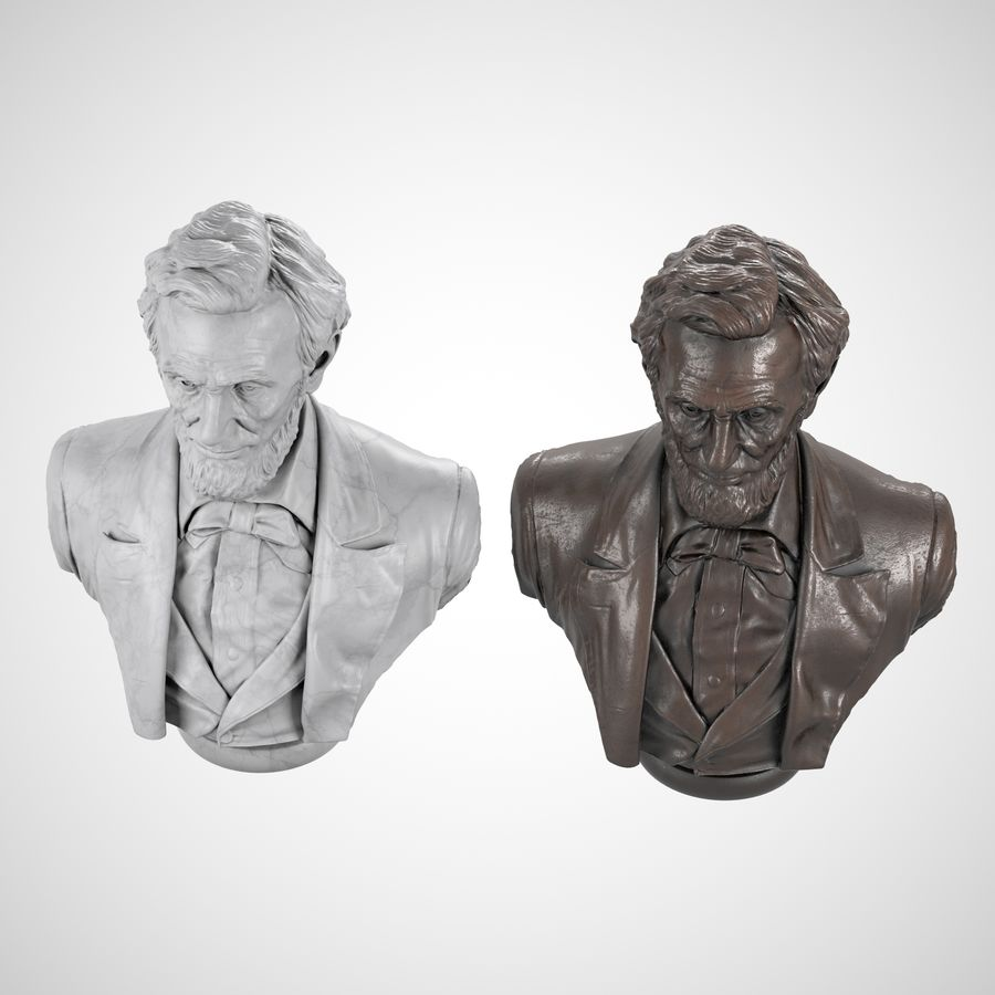 Abraham Lincoln Bust royalty-free 3d model - Preview no. 6