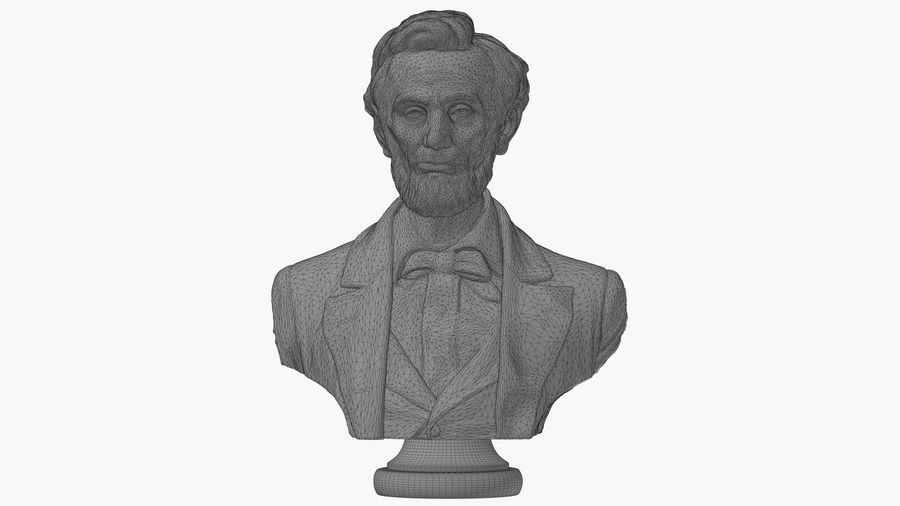 Abraham Lincoln Bust royalty-free 3d model - Preview no. 8