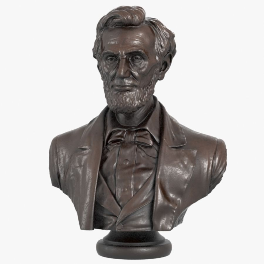 Abraham Lincoln Bust royalty-free 3d model - Preview no. 1