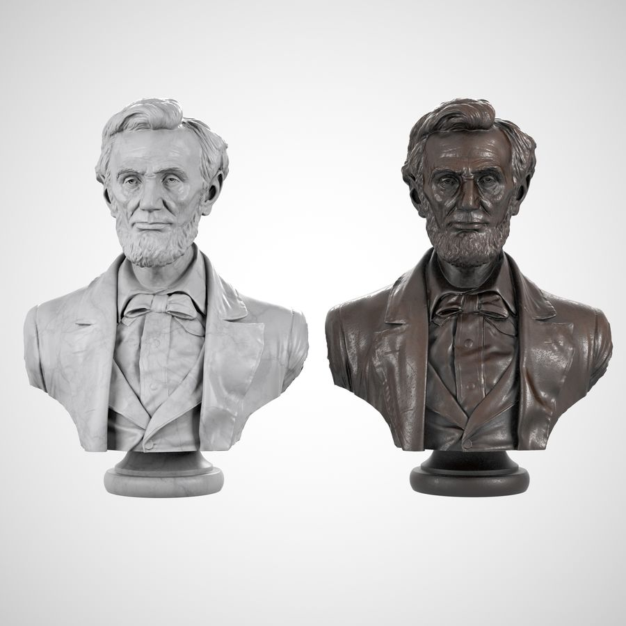 Abraham Lincoln Bust royalty-free 3d model - Preview no. 7